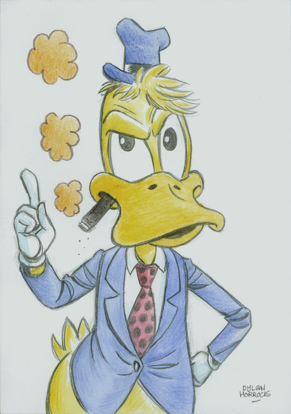Sketch Howardtheduck on duck book